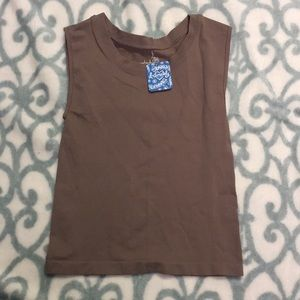 BNWT WOMEN'S FREE PEOPLE TAUPE INTIMATELY TANK